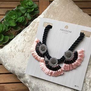 Topshop Necklace Statement Beaded Rope Festival